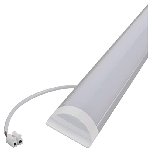 LED Batten Light 4ft 120cm Wide Tube Slim Aluminium