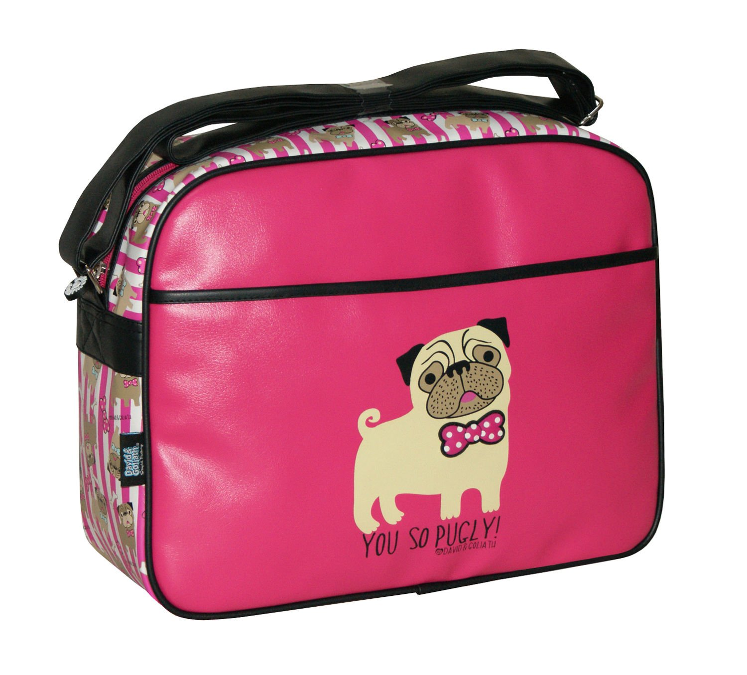 YOU SO PUGLY SCHOOL BACKPACK BROWN DAVID AND GOLIATH