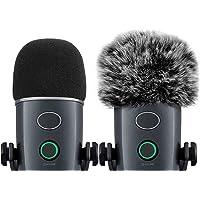 Cubierta Micrófono y Protector Micrófono Peludo para BlueYeti Nano, Ancable 2Unidades Filtro Pop para el Parabrisas…