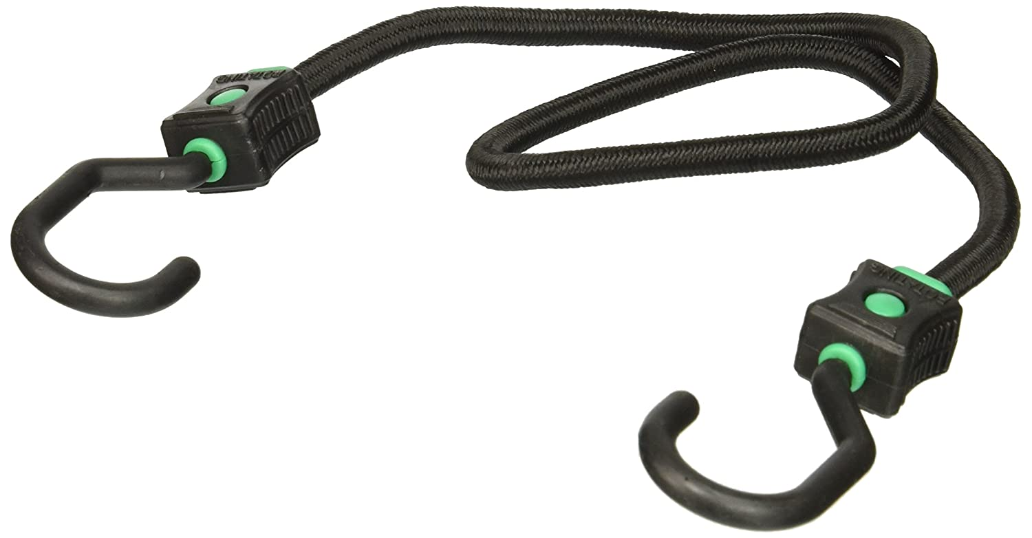Highland 9416500 32 Black and Green Rotating Hook Triple Strength Bungee Cord BLK:94165