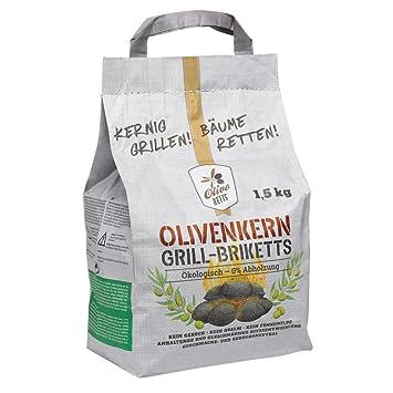 Olivo ketts briquetas de olivo núcleos, 1,5 kg sin humo sin madera No