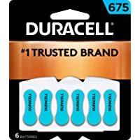 Duracell - Hearing Aid Batteries Size 675 (Blue) - long lasting battery with EasyTab for ease of installation - 6 count