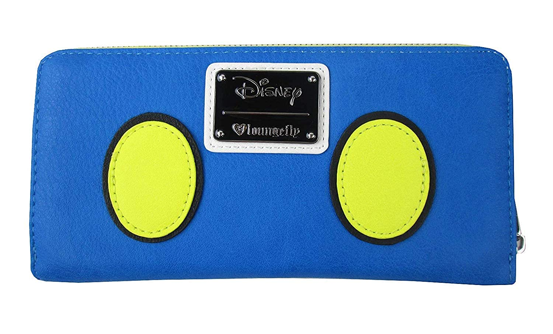 52cae7e1dc6 Amazon.com  Loungefly x Disney Donald Duck Zip-Around Wallet (Blue Multi