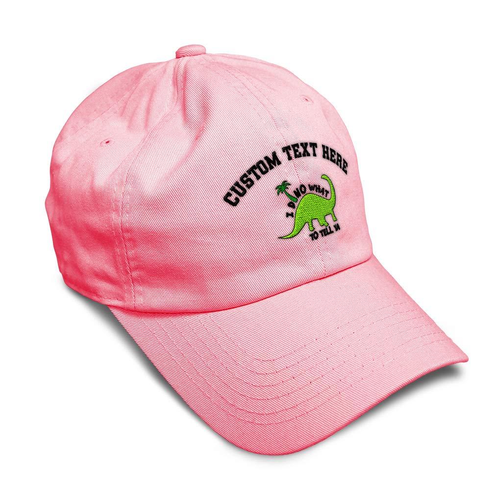 Custom Soft Baseball Cap I Dino What to Tell Ya B Embroidery Twill Cotton