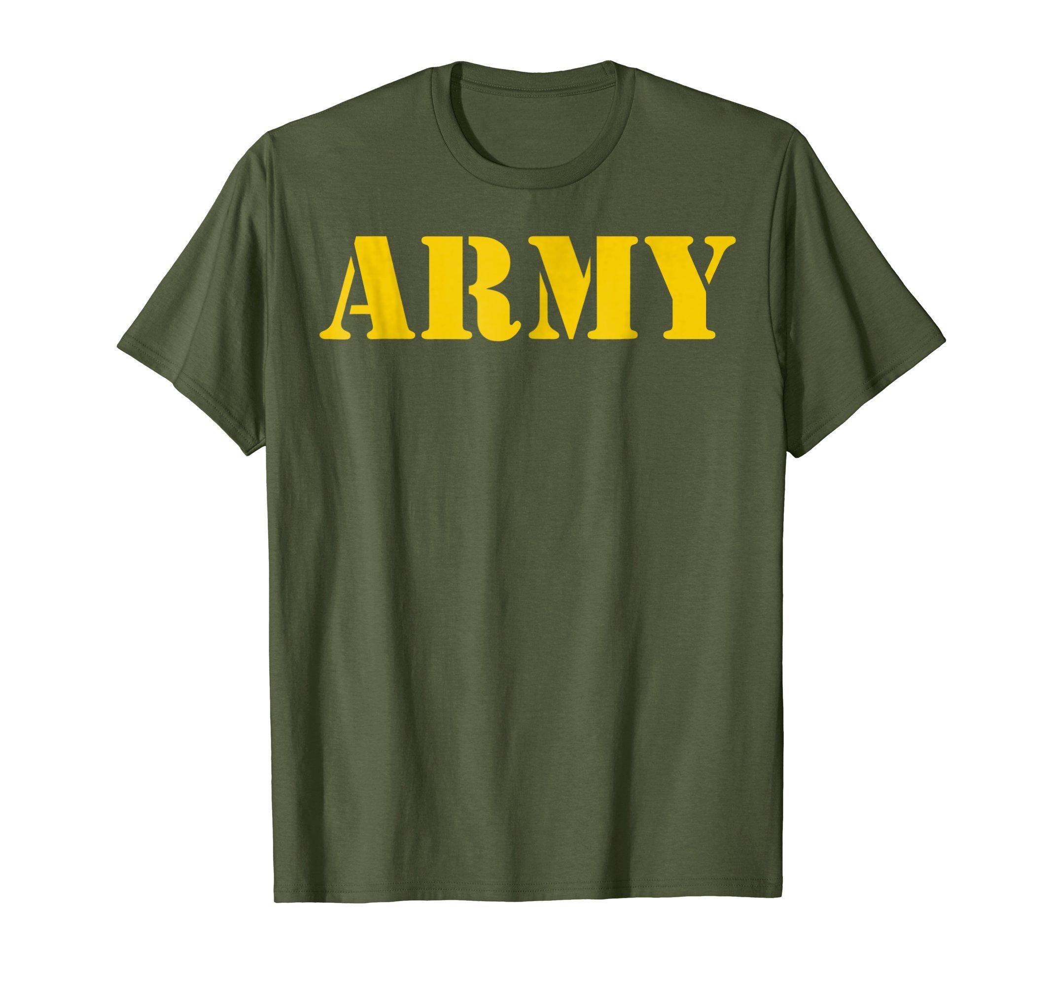 Mens Vintage Army Logo Shirt APFU Workout Tee Large Olive