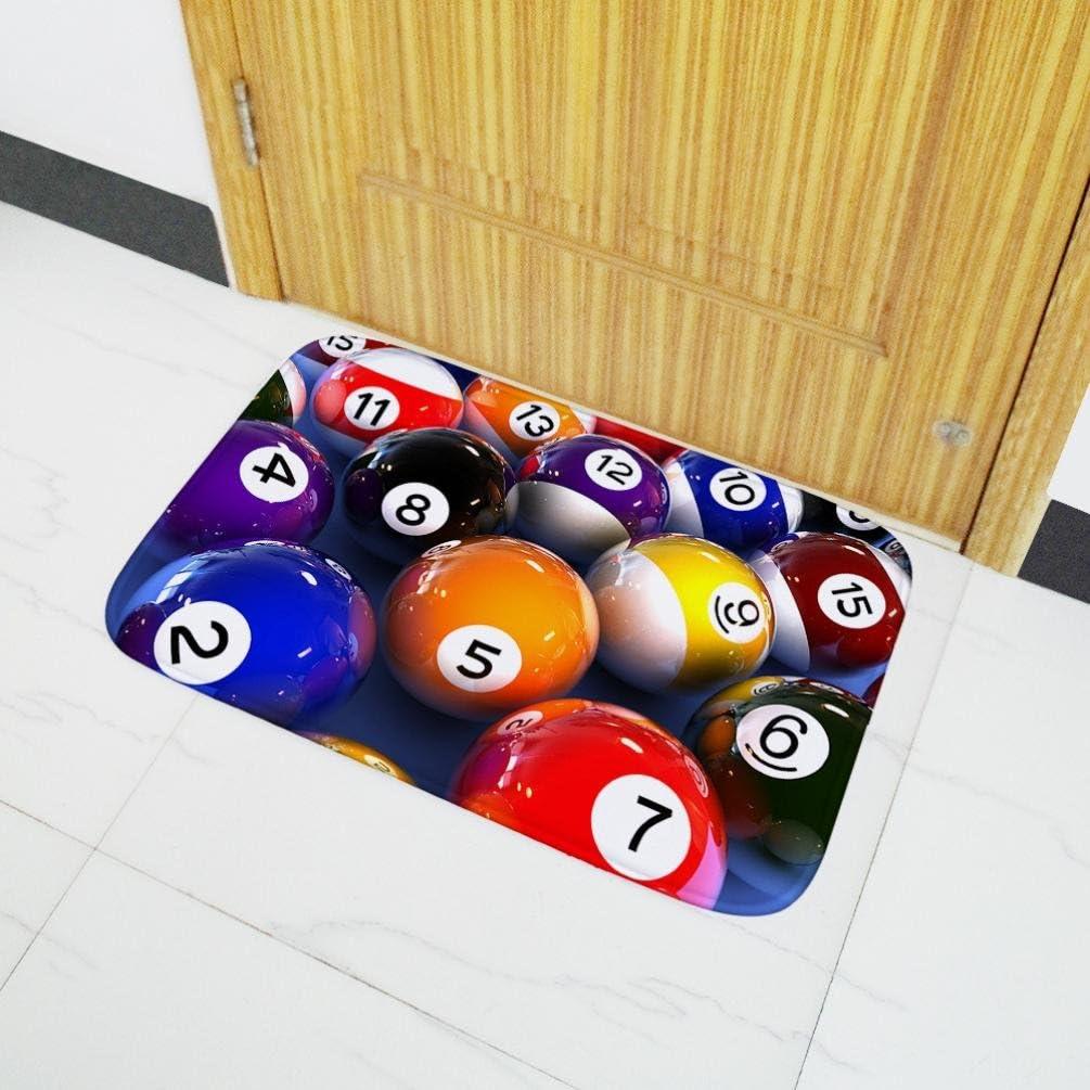 DRESS_Home Billar patrón Antideslizante alfombras Billar 3D impresión Franela Puerta Alfombrillas sofá Mesa de café Alfombra, como en la Imagen, 40x15cm: Amazon.es: Hogar