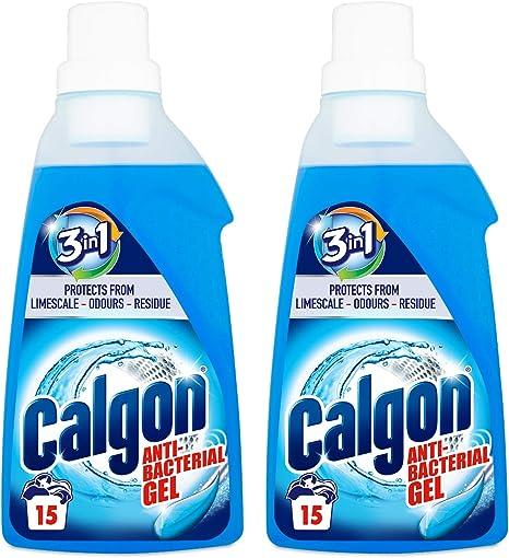 Calgon 2 en 1 gel de descalcificador de agua 750 ml – pack de 2