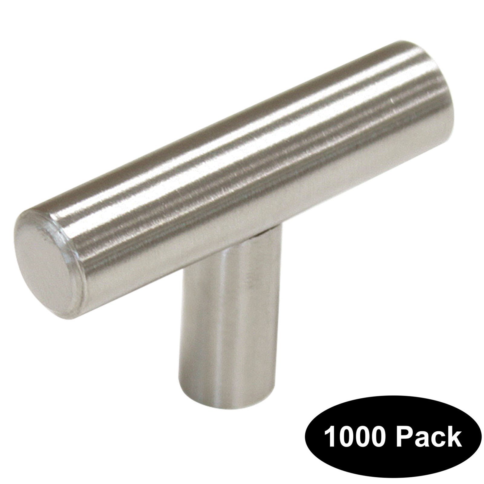 1000 pack 2 inch Length Stainless Steel Kitchen Cabinet Door Handles and Pulls Single Hole Cabinet Knobs 50mm Brushed Nickel