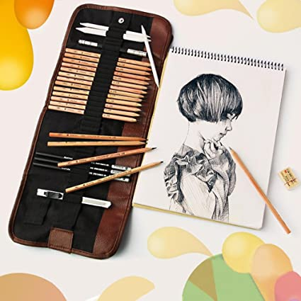 29 Piece Sketching Art Kit For Beginners