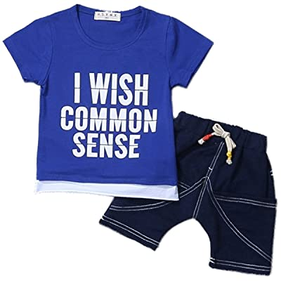 5bd7bbe0f9c0 ... Pants Outfits Clothes Set. Now  11.99 12.99. 2 Pcs Baby Kids Boys  Cotton Summer Letter Print Causal T-shirt Tops With Drawstring