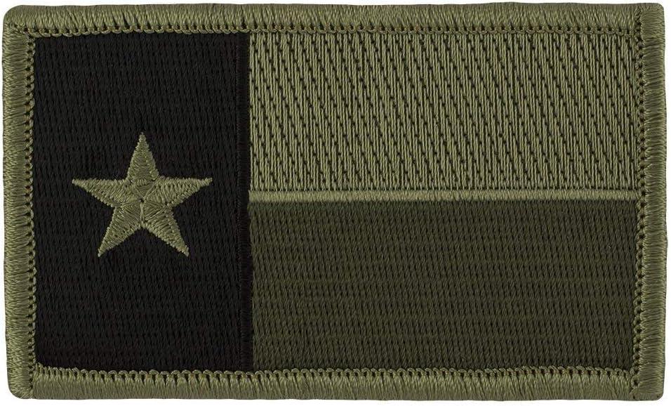 Tactical Texas Estado Bandera Parche (con velcro), color verde ...