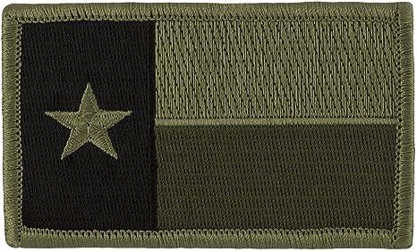 Tactical Texas Estado Bandera Parche (con velcro), color verde tenue 2
