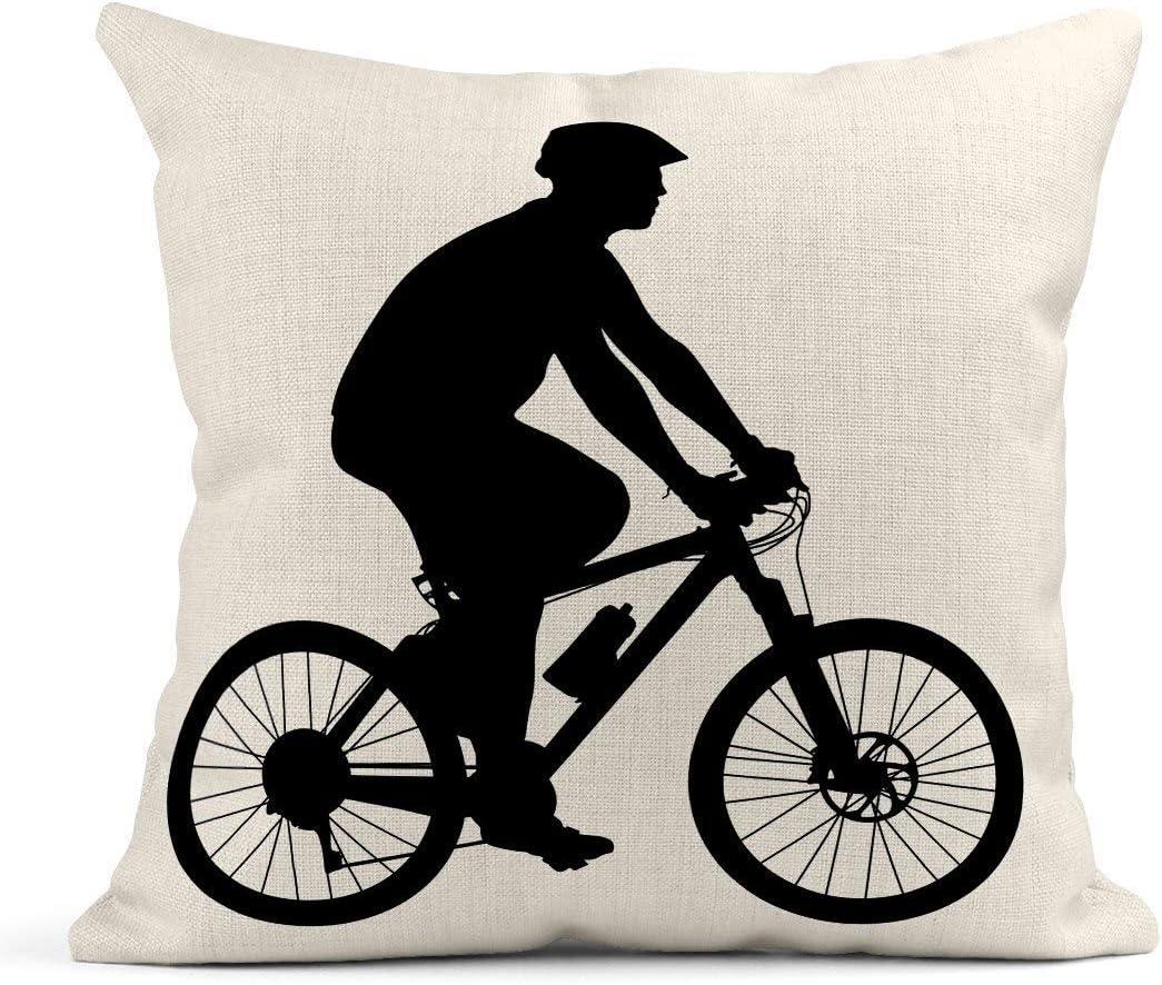 Cojín Bicicleta Silueta de Ciclista Hombre Gente Activo Montaña ...