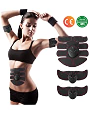 EMS Abs Trainer Abdominal Body Fit Toning Belts Wearable Lightweight Muscle Stimulator Toner Gym Workout Home Fitness Massage Equipment for Men Women