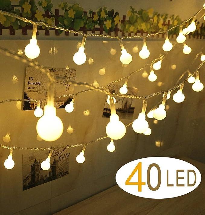 40 LEDs Hochzeitsfeier Garten Weihnachten Globe String Lights Fairy ...
