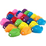 BOLEY (24-Piece) Educational Bath Tub Tropical Fish Toy for Toddlers - Color Fish Toy with Colors Labeled - Educational Baby Bath Toy to Help Toddlers Learn About Colors - Great Educational Toy!