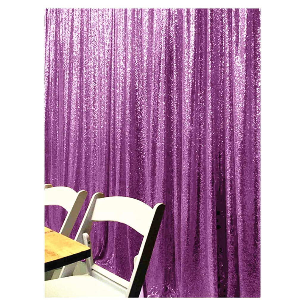 ShiDianYi 8 X 8 スパンコール背景、スパンコールフォトブース背景、パーティー背景、結婚式背景、キラキラ写真小道具 7FTx7FT パープル Sequin Photo Backdrop Curtains Lavender 7FTx7FT ラベンダー B07PYSFK4Q