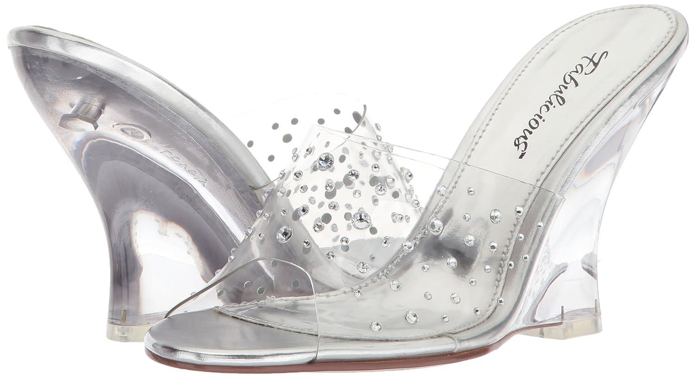 Fabulicious Women's Lovely-401rs Sandal B00JEY2O5M 6 B(M) US|Clr/Clr