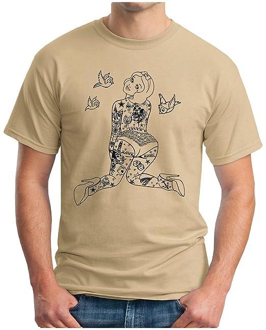OM3 SEXY SCHNEEWITTCHEN - T-Shirt 7 Sieben Zwerge Dwarfs Tattoo Punk  Rockabilly Dope Emo Geek, S - 5XL: Amazon.de: Bekleidung