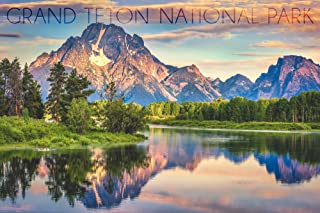 product image for Grand Teton National Park, Wyoming - Sunrise and Snake River (36x54 Giclee Gallery Print, Wall Decor Travel Poster)