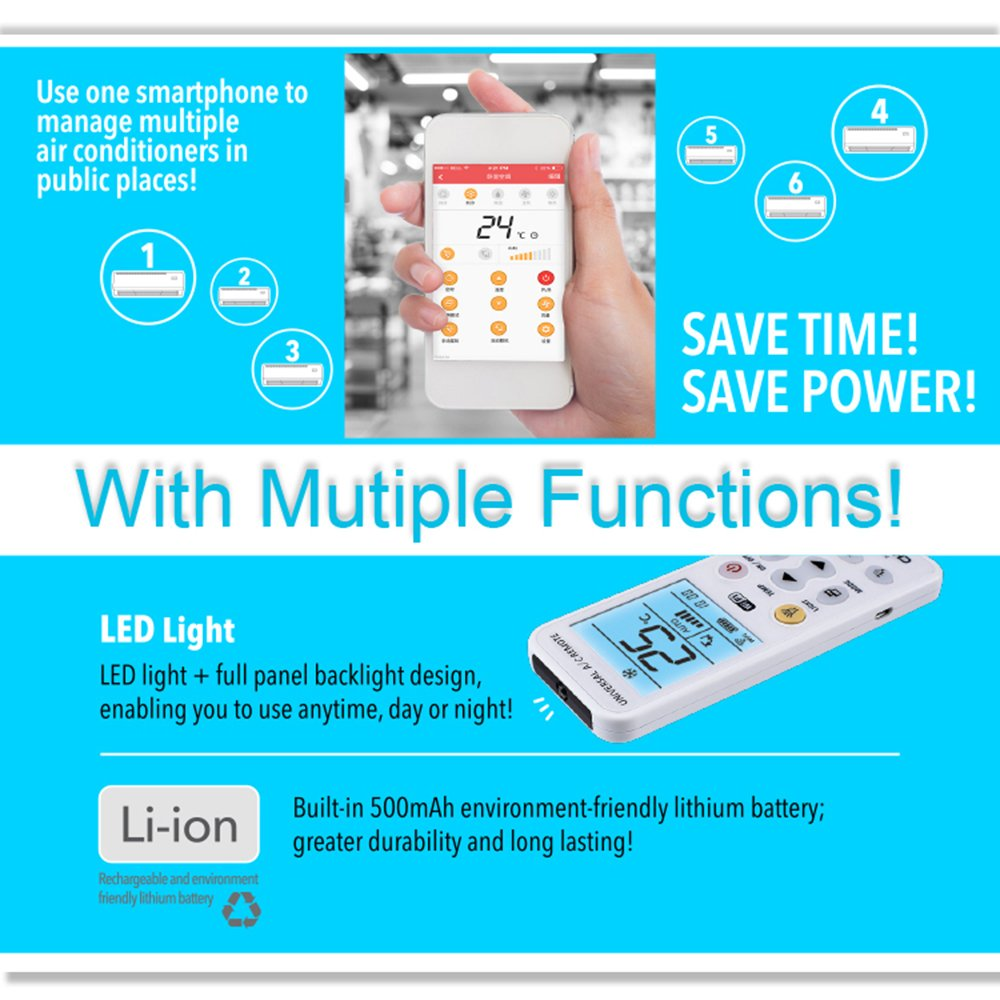 Chunghop WiFi Universal Air Conditioner Remote A/C