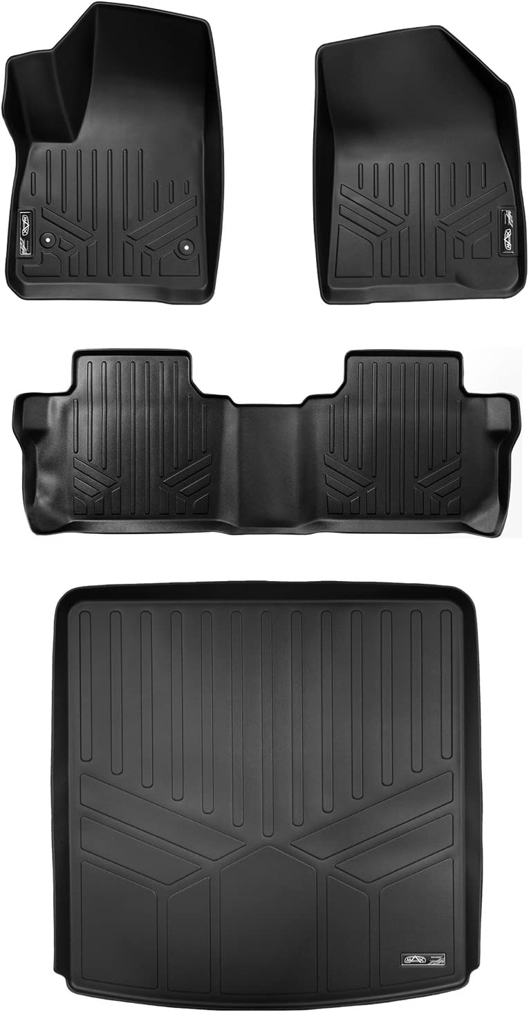 WINUNITE Black Rear Trunk Cargo Floor Mat for 2015-2018 Jeep Wrangler JK JKU 4 Door Cargo Tray Liner All Weather Protector Cover with Subwoofer Mat Cutout