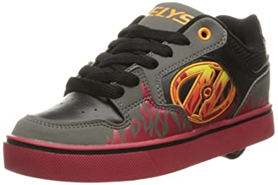 e3f2efc40e3d Heelys Motion Plus, Chaussures de Tennis garçon, Gris (Grey/Black/Flames