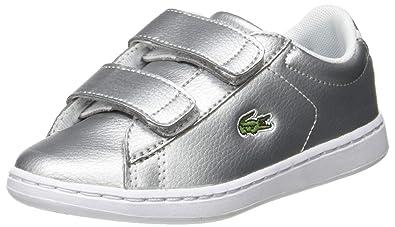 50% ceny zasznurować buty na tanie Amazon.com | Lacoste Carnaby Evo Strap 319 2 Silver/White ...