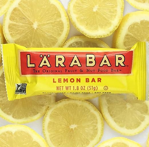 Larabar Gluten Free Snack Bar, Lemon Bar, 1 8 oz  Bars (16 Count)