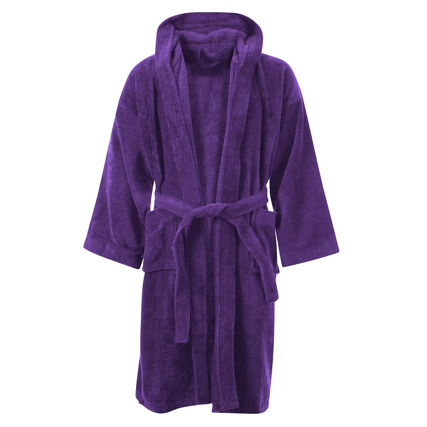 Kids Boys Girls Bathrobe 100% Egyptian Cotton Luxury Velour Towelling  Hooded Dressing Gown Soft Fine Comfortable Nightwear Terry Towel Bath Robe  Lounge Wear ... 84de9cc65