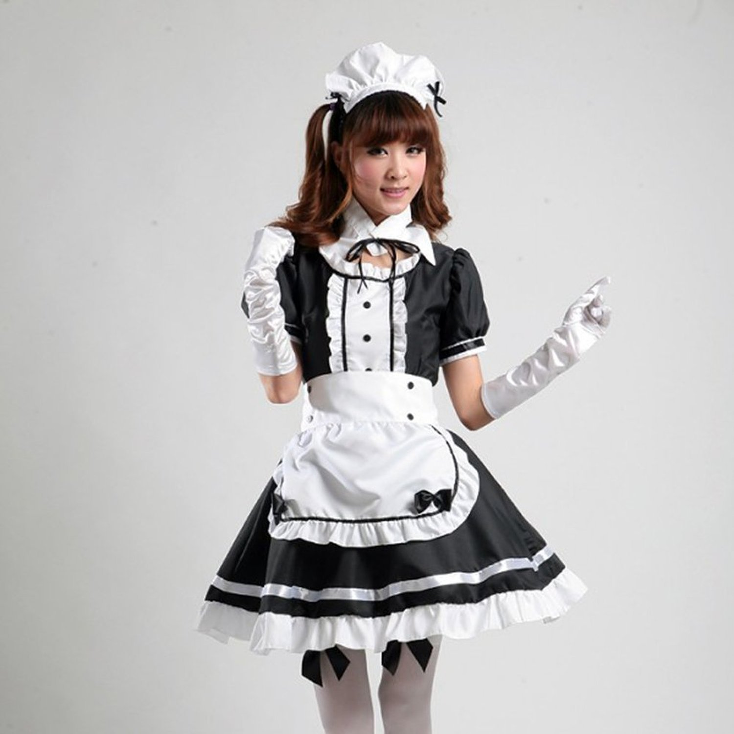 Amazon com avacostume womens anime cosplay french apron maid fancy dress costume clothing