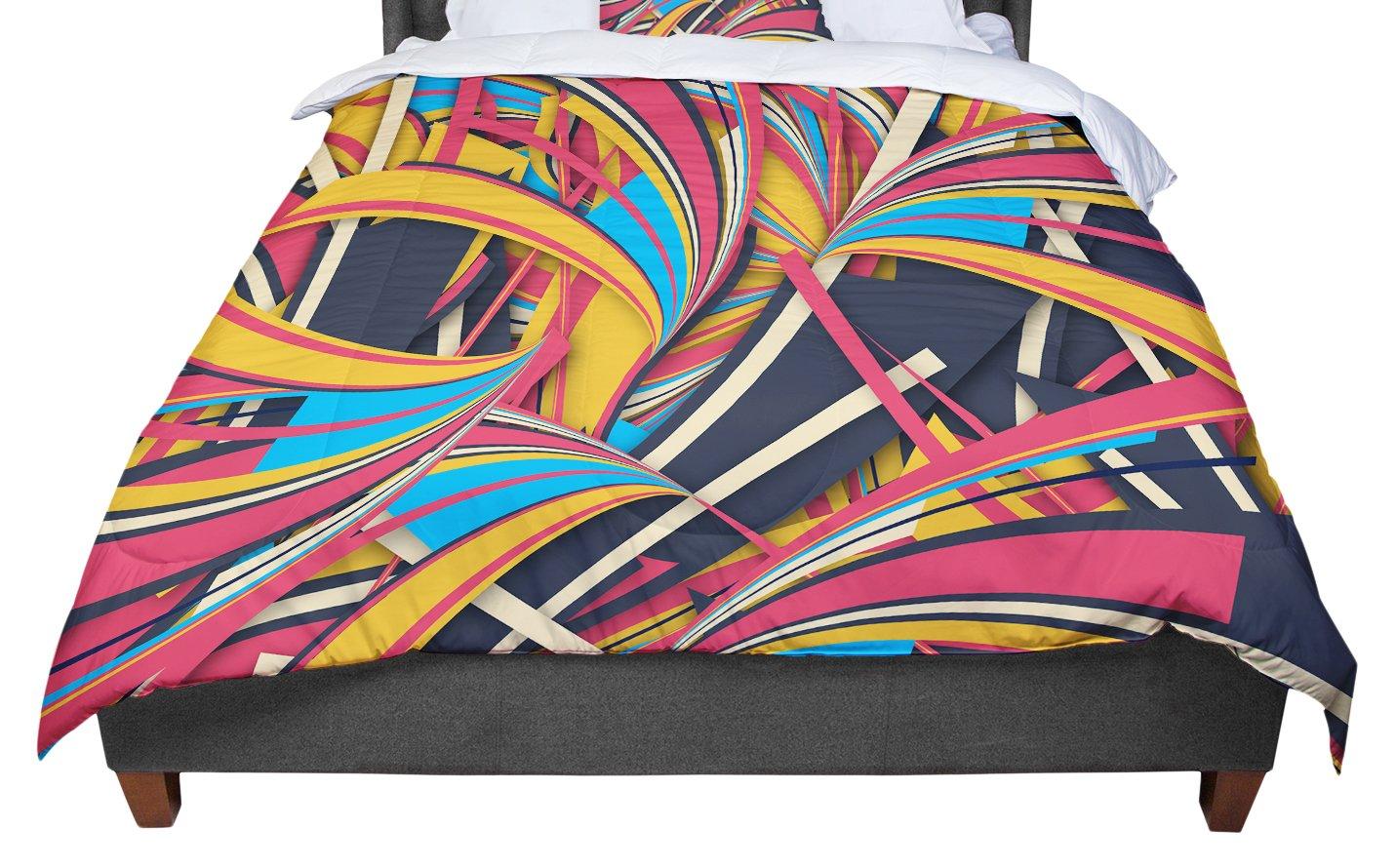 KESS InHouse Danny Ivan Slippery Slope Orange Blue Twin Comforter 68 X 88