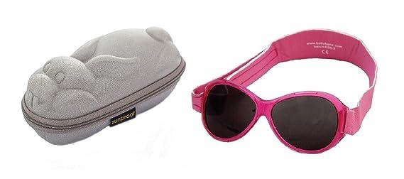 74fa72b53f3a2f Lunettes de soleil BabyBanz- Bébé 0 à 24 mois , Rose, et un étui lunettes  de soleil Yoccoes - en forme de Lapin Argent  Amazon.fr  Vêtements et  accessoires