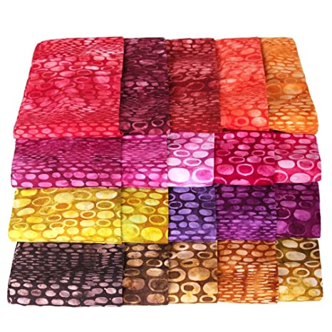 Bali Batiks Premium Batik Half Yard Cuts Pack of 5 2.5 Yards Total