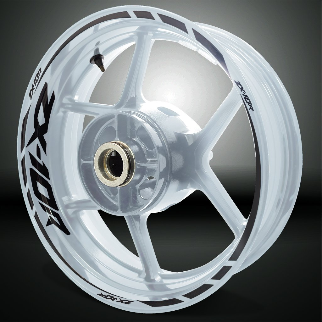 Kawasaki ZX10R Gloss Black Motorcycle Rim Wheel Decal Accessory Sticker