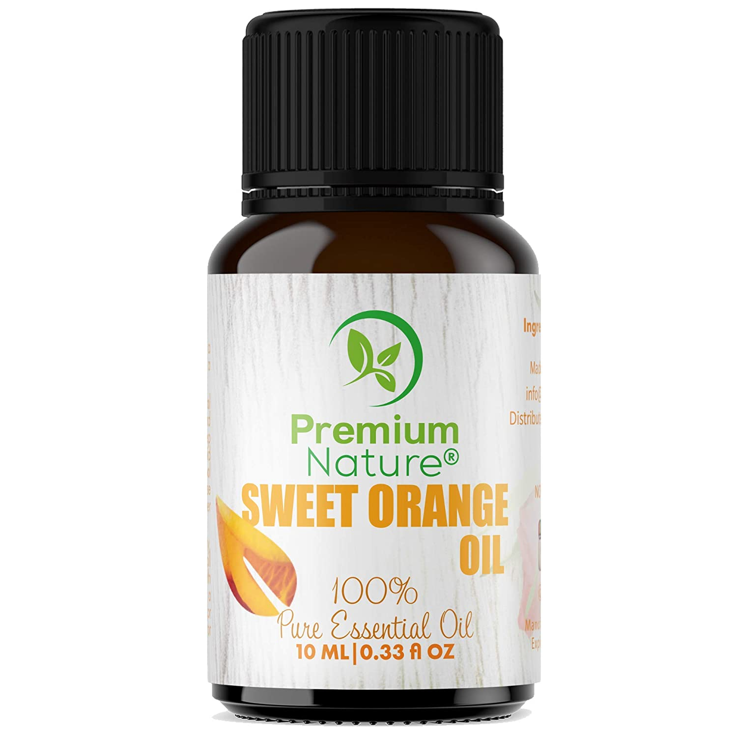 Organic Aromatherapy Sweet Orange Essential Oil - 100% Pure Essential Oil for Hair, Skin and Diffuser Best Therapeutic Grade Essential Oil (10mL) (Sweet Orange Oil)