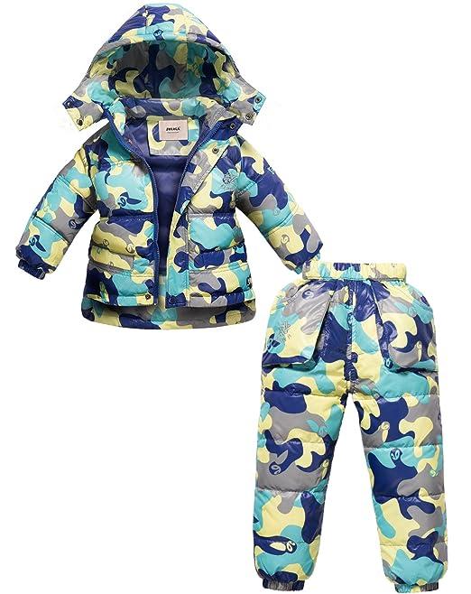 ZOEREA Chaqueta de esquí para niño Chaqueta niña abrigos niño Pantalones de nieve Ropa de invierno: Amazon.es: Ropa y accesorios