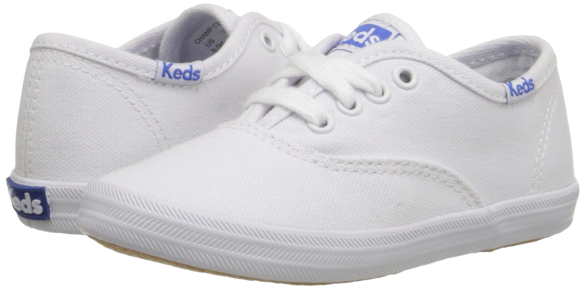 Keds girls Original Champion CVO Sneaker ,White Canvas,1 W US Little Kid by Keds (Image #6)