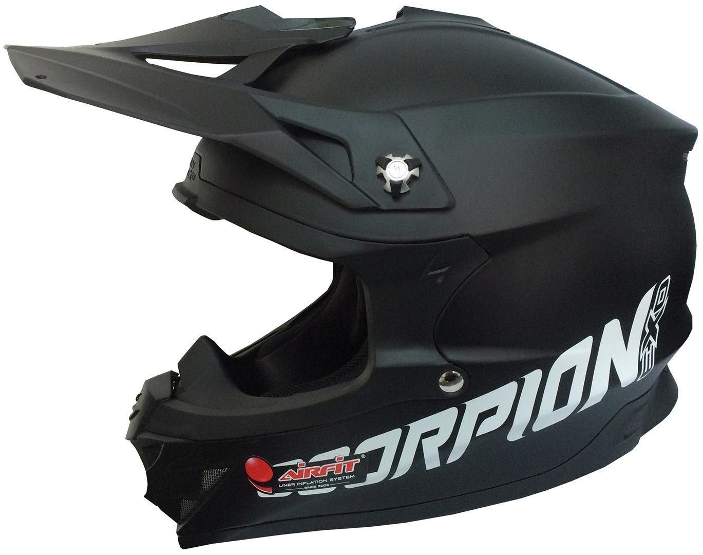 Scorpion 35-100-03-XXL Vx-15 Evo Air Solid Erwachsener Motorradhelm Schwarz Gr/ö/ße XX-Gro/ß