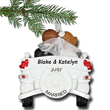 Image Unavailable. Image not available for. Color: Rudolph and Me  Personalized Just Married Christmas Ornament ... - Amazon.com: Rudolph And Me Personalized Just Married Christmas