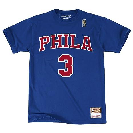 timeless design f4764 93b1f Allen Iverson Philadelphia 76ers Mitchell   Ness NBA Men s   quot Player quot  Blue T-