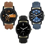Frida Analogue Multicolour Dial Men's Watches Combo - Pack of 3