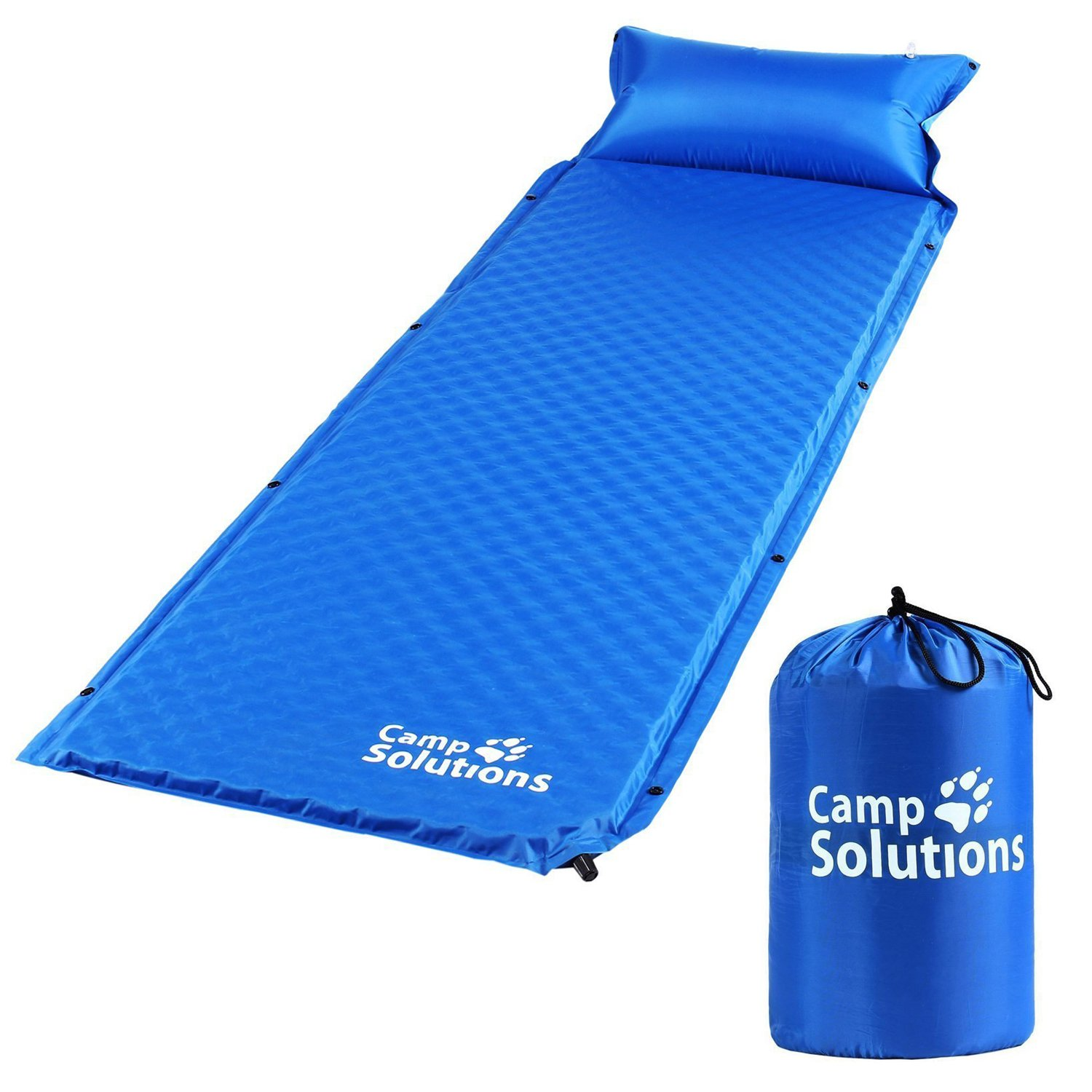 Camp Solutions Self Inflating Sleeping Pad with Attached Pillow