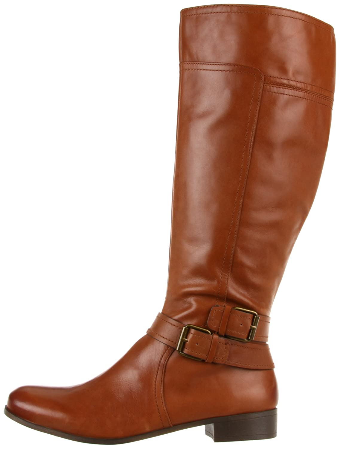 65a2c160911 Nine West Shiza Womens Tan Leather Fashion Knee-High Boots Size UK 4   Amazon.co.uk  Shoes   Bags