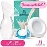 Breastfeeding Milk Catcher I Breastpump Best For New Moms Gifts, Travel And Collecting Letdown While Nursing & Increase Suction I Manual Breast Pump I Hands Free Milk-Saver BPA Free 100%Food Grade