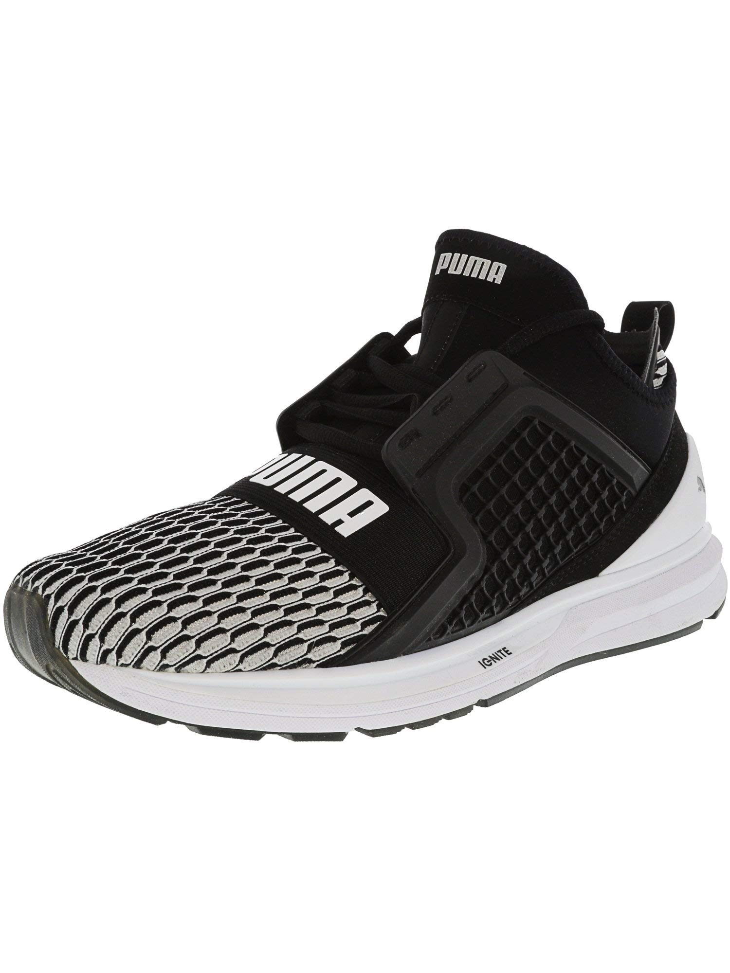 09945c991fc032 Galleon - PUMA Men s Ignite Limitless Black White Ankle-High Basketball Shoe  - 11M