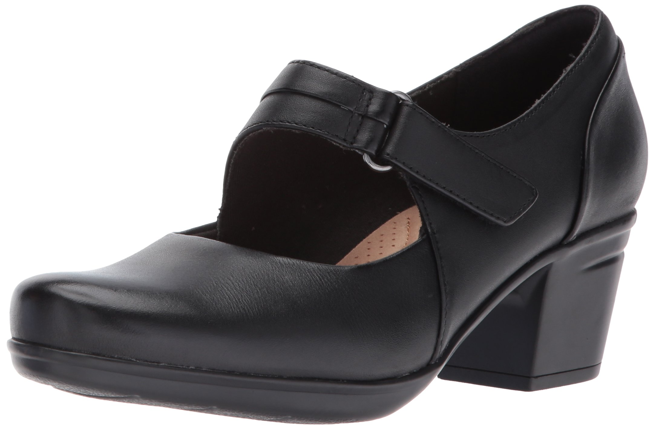 CLARKS Women's Emslie Lulin Dress Pump, Black, 8 M US