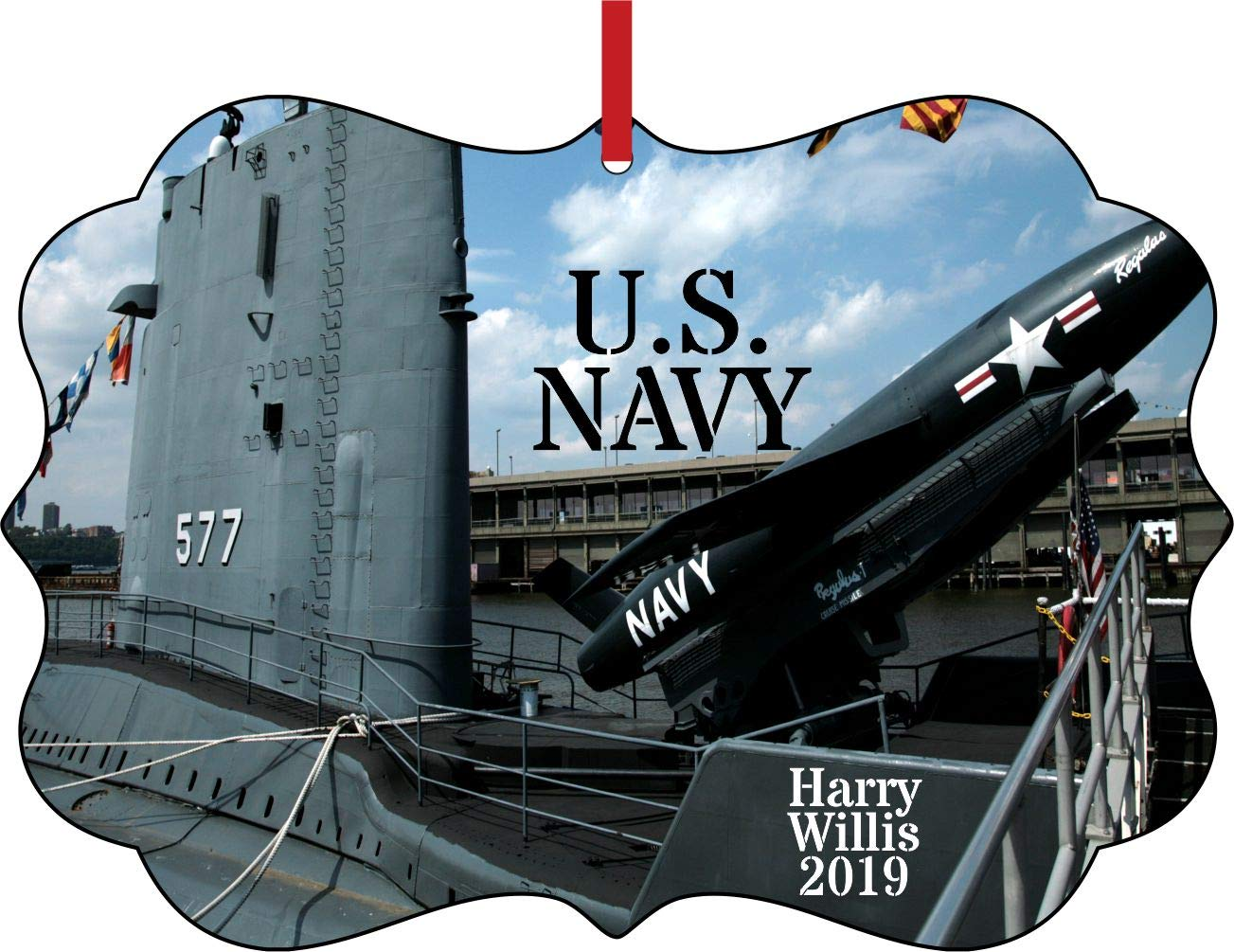 Naval Christmas Ornaments.Amazon Com Rosie Parker Inc U S Navy Name S Year
