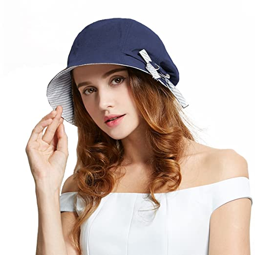 Amazon.com  Afala Women Packable Beach Summer Hats Bucket Hats ... ef67f712bea