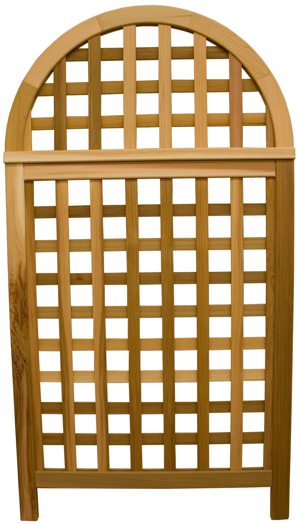 Arboria Andover Arch Privacy Screen Cedar Wood Over 5.5 Ft High With Lattice Design